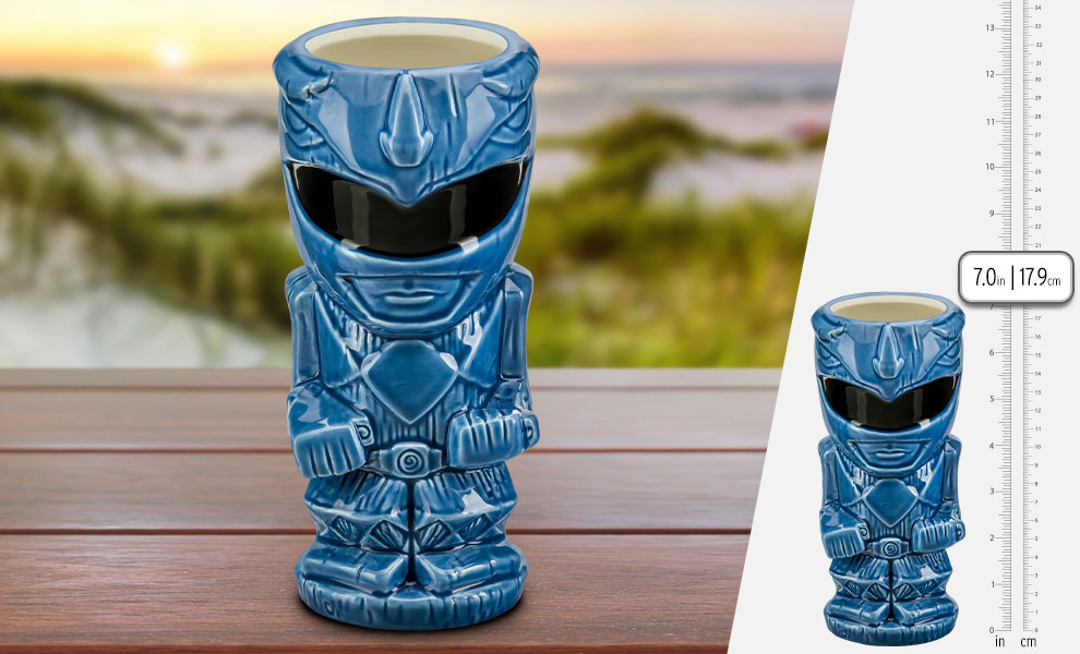 Gallery Feature Image of Blue Ranger Tiki Mug - Click to open image gallery