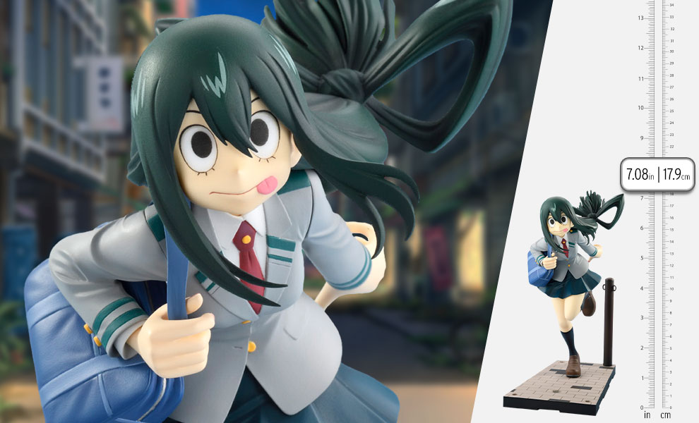 Gallery Feature Image of Tsuyu Asui Uniform Version Collectible Figure - Click to open image gallery