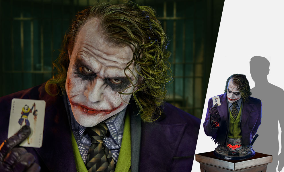 Gallery Feature Image of The Joker (The Dark Knight) Life-Size Bust - Click to open image gallery