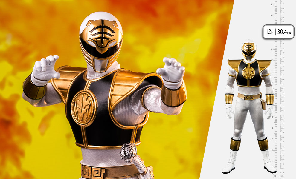 Gallery Feature Image of White Ranger Sixth Scale Figure - Click to open image gallery
