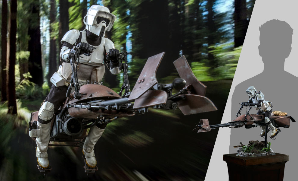 Gallery Feature Image of Scout Trooper™ and Speeder Bike™ Sixth Scale Figure Set - Click to open image gallery