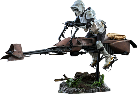 Hot Toys Scout Trooper™ and Speeder Bike™ Sixth Scale Figure Set