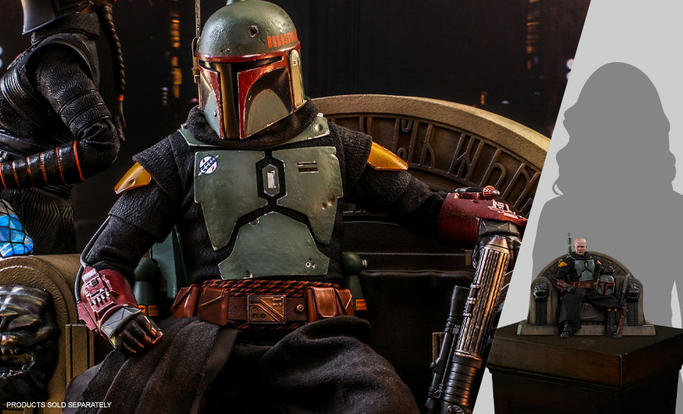 Gallery Feature Image of Boba Fett (Repaint Armor) and Throne Sixth Scale Figure Set - Click to open image gallery