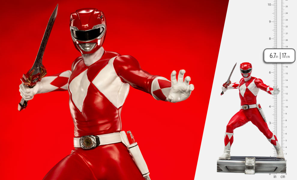 Gallery Feature Image of Red Ranger 1:10 Scale Statue - Click to open image gallery