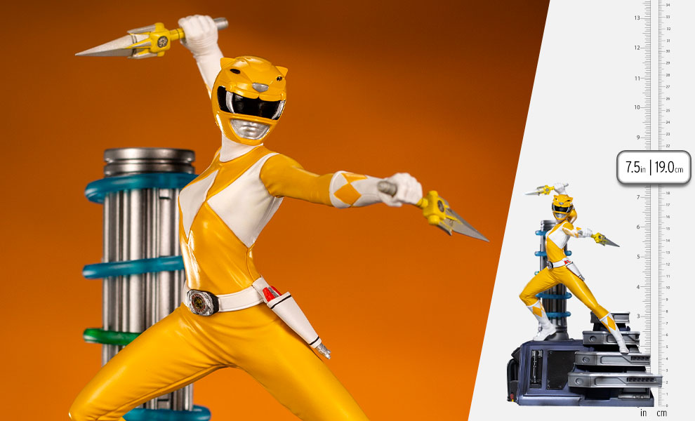 Gallery Feature Image of Yellow Ranger 1:10 Scale Statue - Click to open image gallery