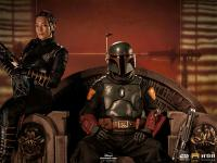 Gallery Image of Boba Fett & Fennec Shand on Throne Deluxe 1:10 Scale Statue