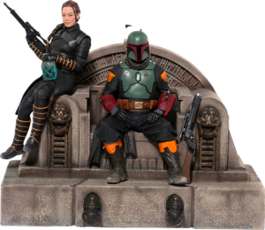 Boba Fett & Fennec Shand on Throne Deluxe 1:10 Scale Statue