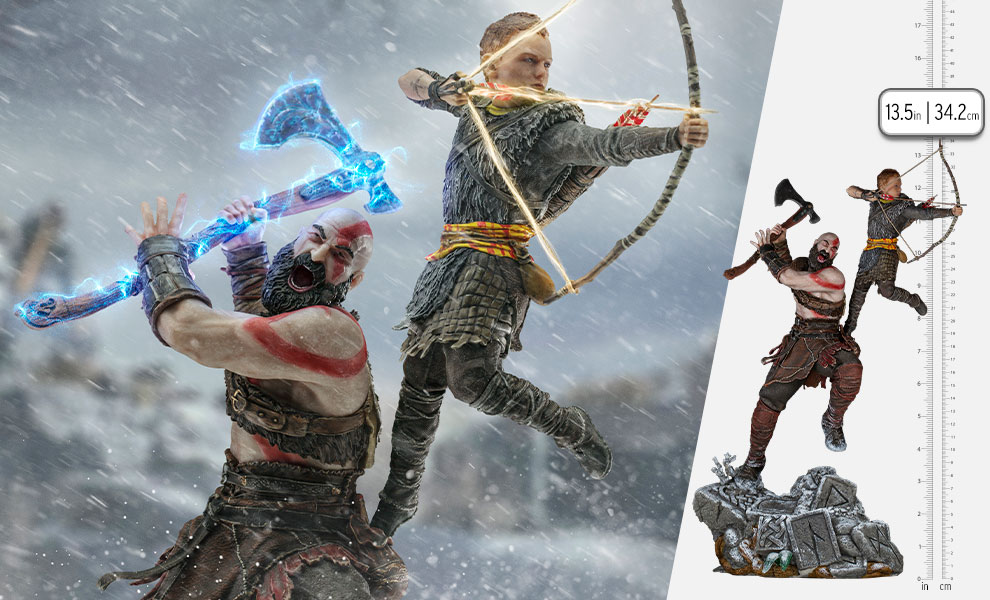 Gallery Feature Image of Kratos and Atreus 1:10 Scale Statue - Click to open image gallery