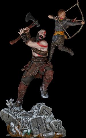 Kratos and Atreus 1:10 Scale Statue