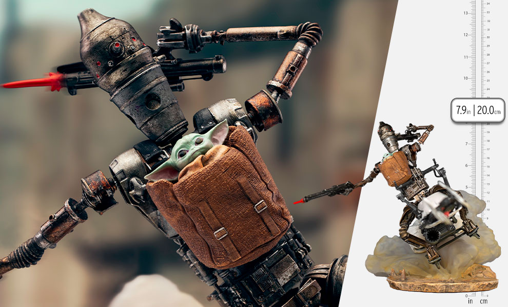 Gallery Feature Image of IG-11 and The Child Deluxe 1:10 Scale Statue - Click to open image gallery