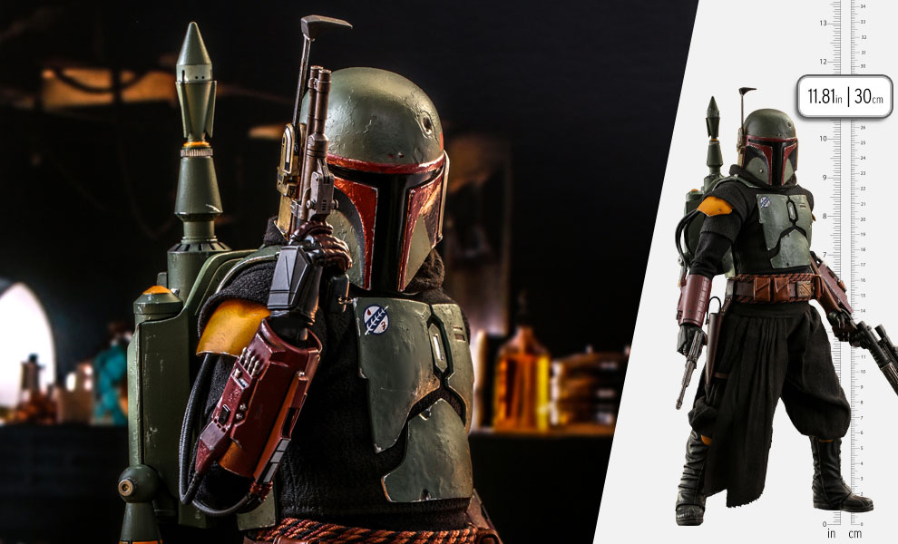 Gallery Feature Image of Boba Fett (Repaint Armor) Sixth Scale Figure - Click to open image gallery