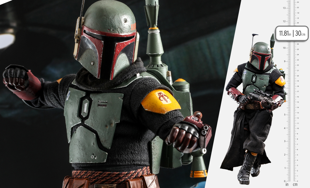 Gallery Feature Image of Boba Fett (Repaint Armor - Special Edition) Sixth Scale Figure - Click to open image gallery