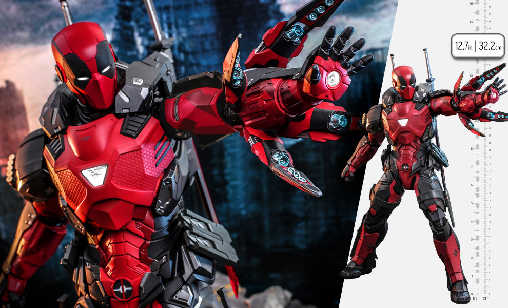 Gallery Feature Image of Armorized Deadpool (Special Edition) Sixth Scale Figure - Click to open image gallery