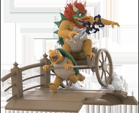 Mighty Jaxx Ukiyo-E Rickshaw Kart: Turtle Daimao Collectible Figure
