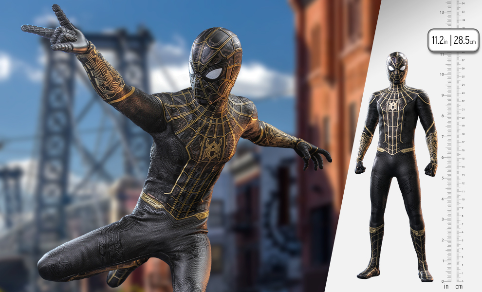Gallery Feature Image of Spider-Man (Black & Gold Suit) Sixth Scale Figure - Click to open image gallery