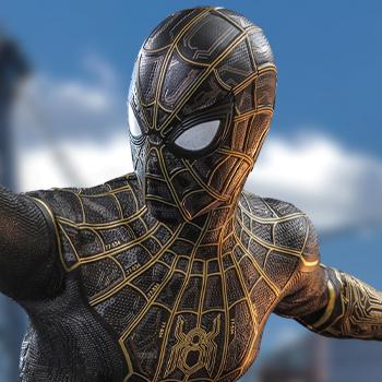 Spider-Man (Black & Gold Suit) Sixth Scale Figure