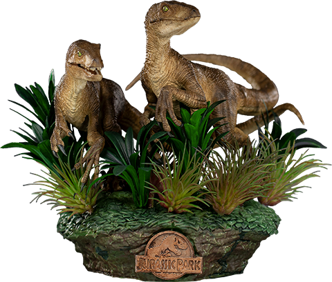Iron Studios Just The Two Raptors Deluxe 1:10 Scale Statue