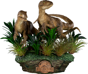 Just The Two Raptors Deluxe 1:10 Scale Statue