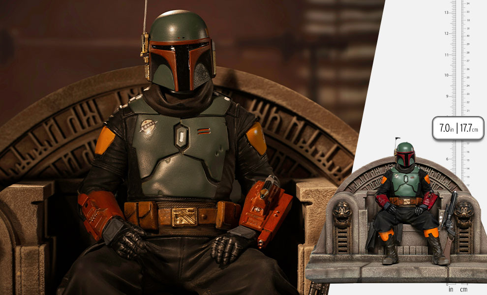 Gallery Feature Image of Boba Fett on Throne Deluxe 1:10 Scale Statue - Click to open image gallery