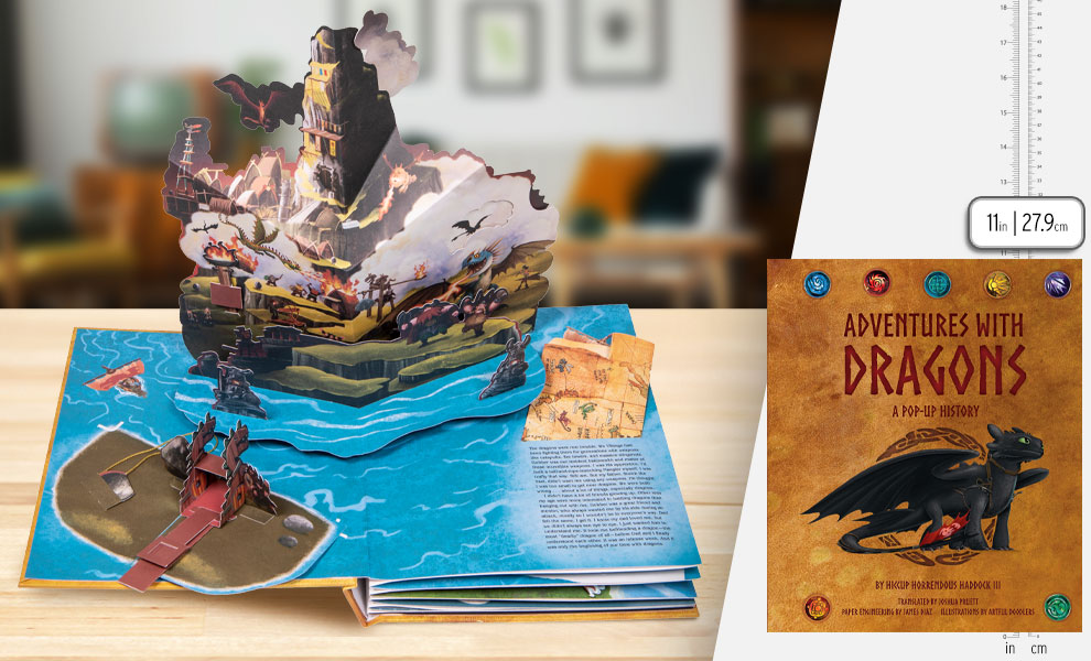 Gallery Feature Image of DreamWorks Dragons: Adventures with Dragons: A Pop-Up History Book - Click to open image gallery