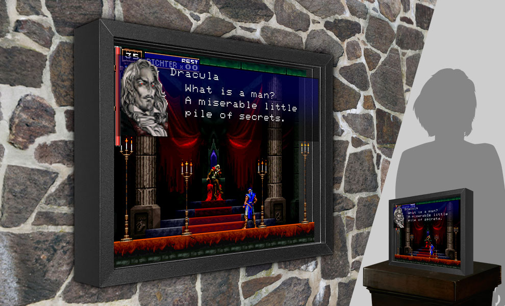 Gallery Feature Image of Castlevania SOTN Shadow box art - Click to open image gallery