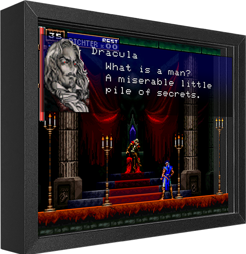 Artovision Castlevania SOTN Shadow box art