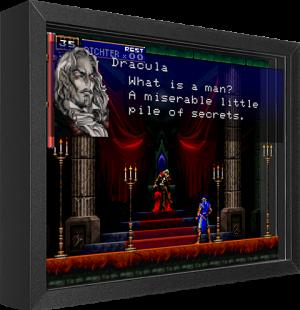 Castlevania SOTN Shadow box art