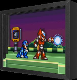 Mega Man Meets Zero Shadow box art