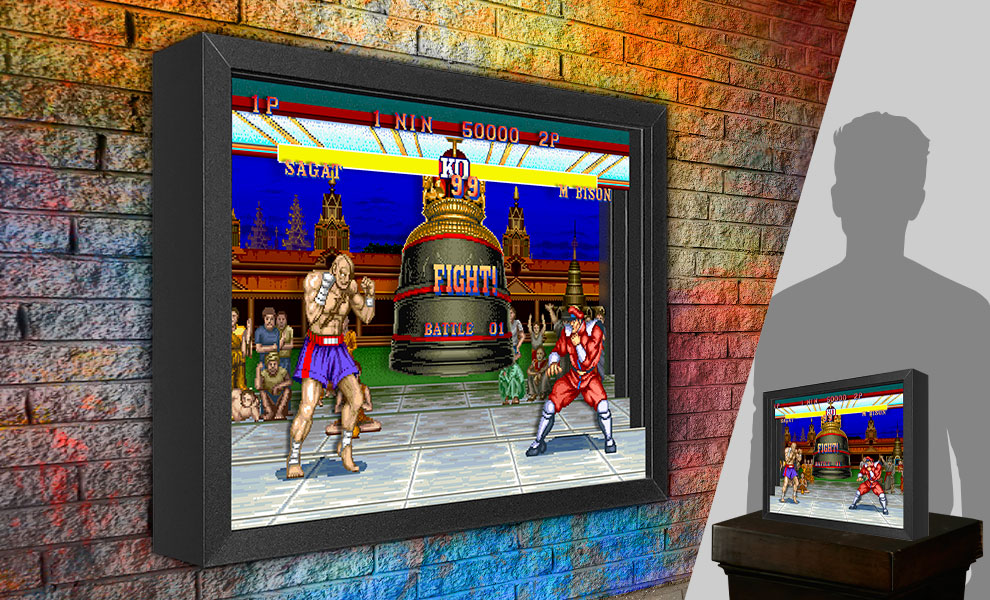 Gallery Feature Image of Street Fighter M. Bison vs. Sagat Shadow box art - Click to open image gallery