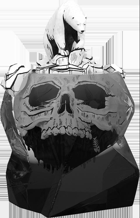 Mighty Jaxx Global Warning (Inked Edition) Polystone Statue
