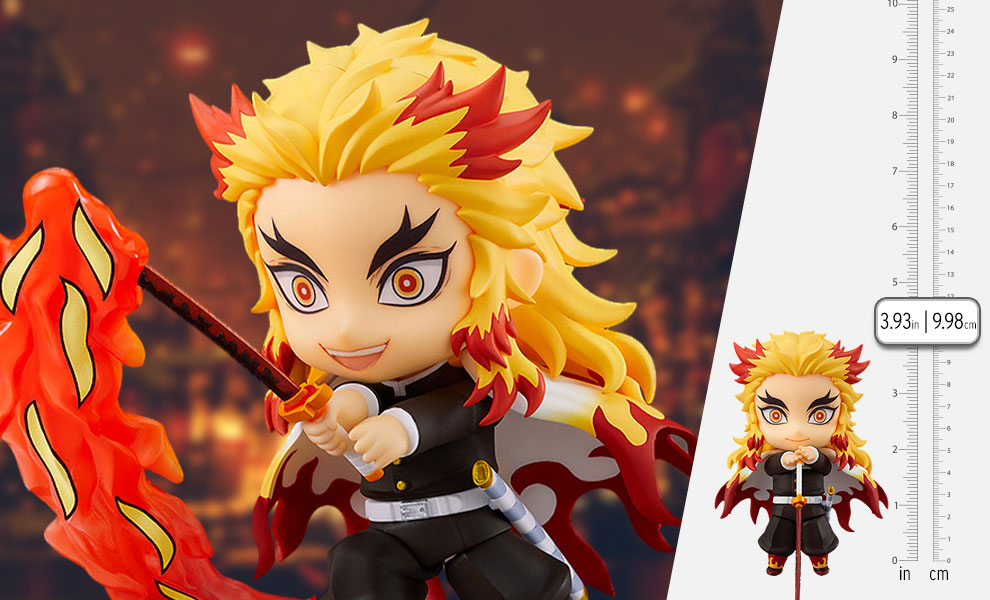 Gallery Feature Image of Kyojuro Rengoku Nendoroid Collectible Figure - Click to open image gallery