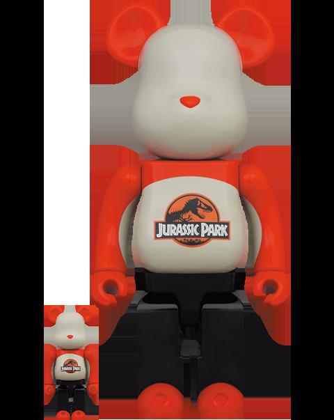 Medicom Toy Be@rbrick Jurassic Park 100% & 400% Bearbrick