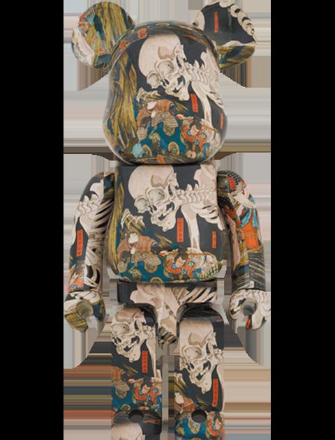 """Medicom Toy Be@rbrick Utagawa Kuniyoshi """" The Haunted Old Palace at Soma"""" 1000% Bearbrick"""