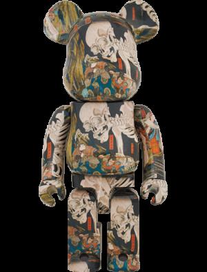 """Be@rbrick Utagawa Kuniyoshi """" The Haunted Old Palace at Soma"""" 1000% Bearbrick"""