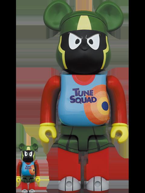 Medicom Toy Be@rbrick Marvin the Martian 100% and 400% Bearbrick