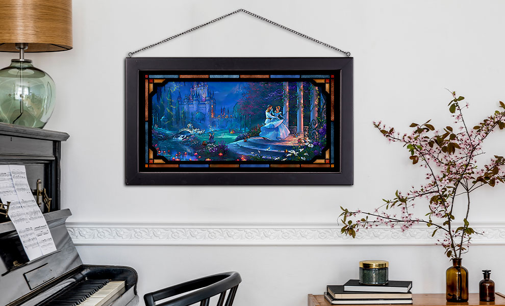 Gallery Feature Image of Cinderella Dancing in the Starlight Stained Glass - Click to open image gallery