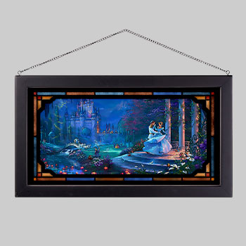 Cinderella Dancing in the Starlight Stained Glass