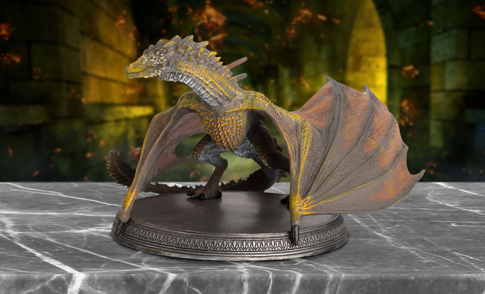Gallery Feature Image of Viserion the Dragon Figurine - Click to open image gallery