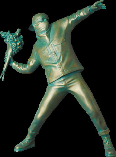 Flower Bomb #3 Bronze Statue