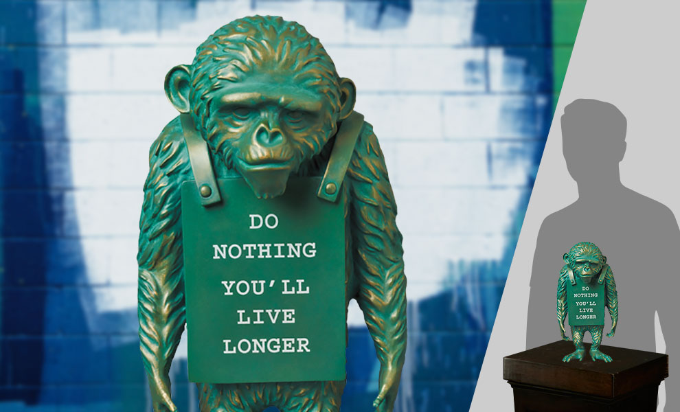 Gallery Feature Image of Monkey Sign #2 Bronze Statue - Click to open image gallery