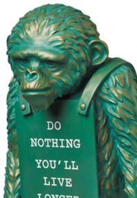 Gallery Image of Monkey Sign #2 Bronze Statue