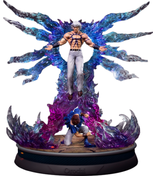 Orochi and Chris Statue