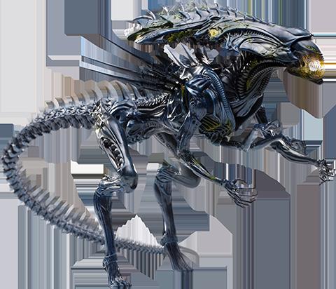 Hiya Toys Alien Queen (Battle Damaged) Figure