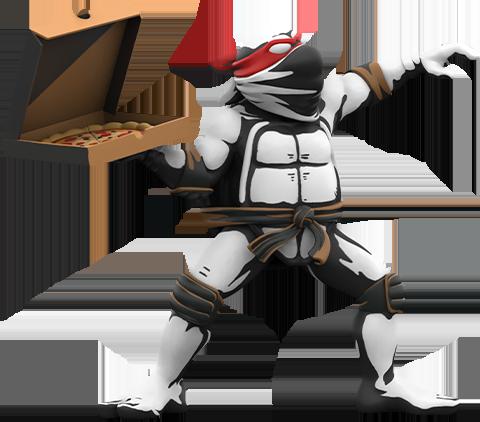 Mighty Jaxx Teenage Mutant Ninja Turtles: Pizza Bomber Vinyl Collectible