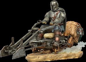 The Mandalorian on Speederbike Deluxe 1:10 Scale Statue