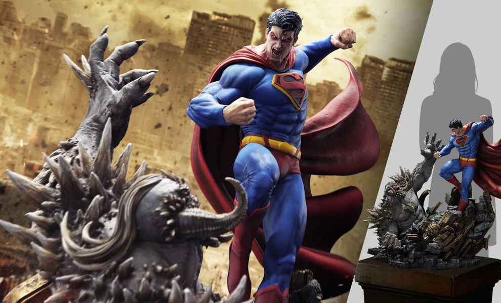 Gallery Feature Image of Superman VS Doomsday (Deluxe Version) Statue - Click to open image gallery