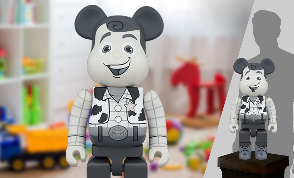 Gallery Feature Image of Be@rbrick Woody (Black & White Version) 1000% Bearbrick - Click to open image gallery
