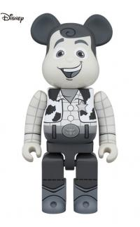 Gallery Image of Be@rbrick Woody (Black & White Version) 1000% Bearbrick