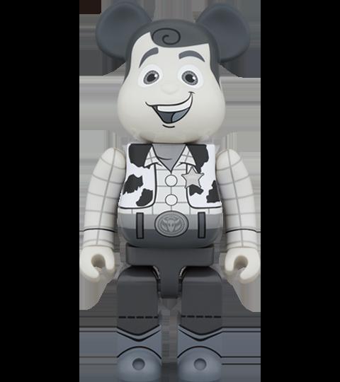 Medicom Toy Be@rbrick Woody (Black & White Version) 1000% Bearbrick