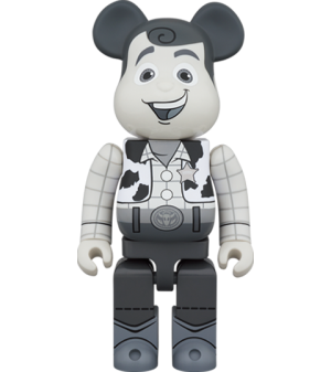 Be@rbrick Woody (Black & White Version) 1000% Bearbrick